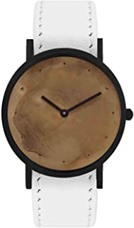 South Lane Swiss Quartz Stainless Steel and Leather Casual Watch, Color:Black (Model: core-SL-182)