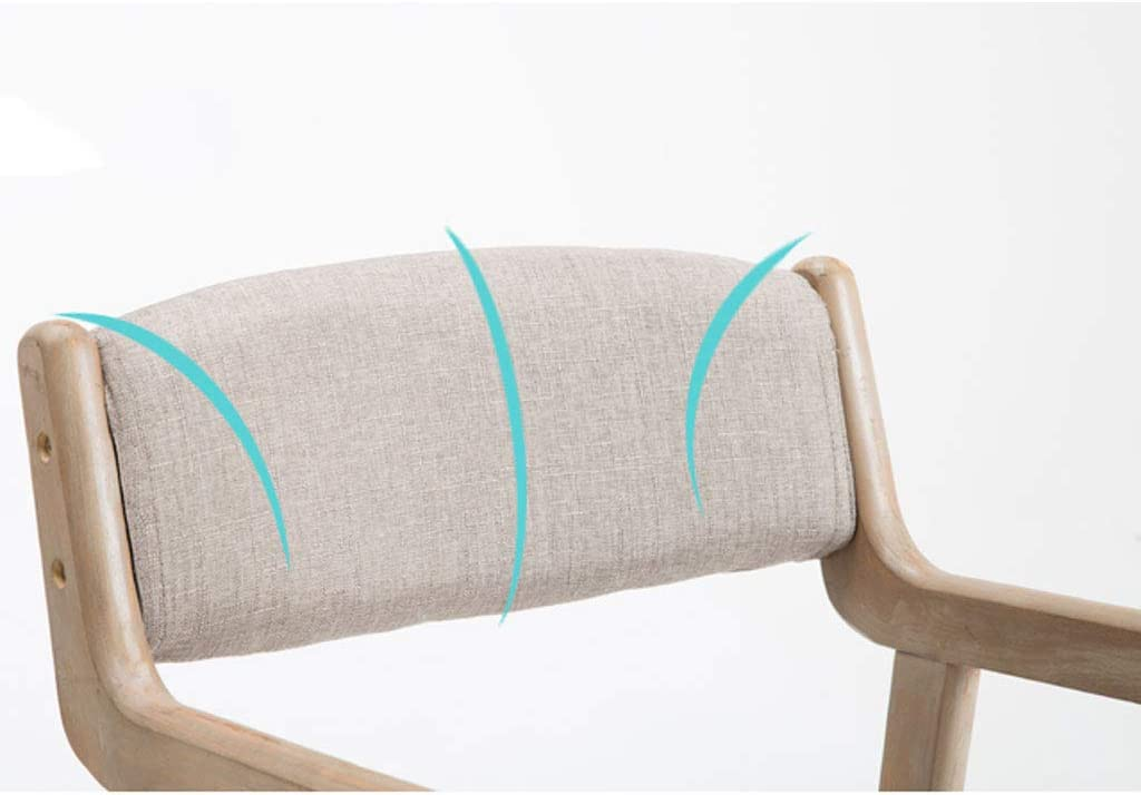 Chaise de salle à manger SLL Simple en Bois Massif avec accoudoir de Restaurant, Chaise de Loisirs, Chaise d'ordinateur pour Adultes Moderne (Color : A) D