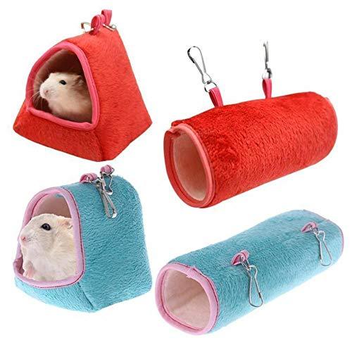 LiuQ Hamaca para Mascotas Hamster Colgando Hamaca Jaula durmiendo Nido Mascota Cama Rata hámster Juguetes Jaula Columpio Mascota plátano diseño pequeños Animales Hamacas para Dormir y Descansar