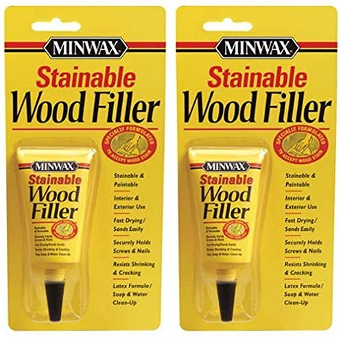 Minwax 42851000 Stainable Wood Filler, 1-Ounce 2 Pack