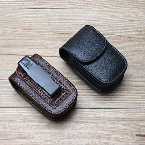 LLSMBHfs La funda plegable de PU para gafas presbiópicas se puede colgar en el cinturón de la cintura bolsa de gafas para hombres estuche portátil para gafas de mediana edad y ancianos-Color8