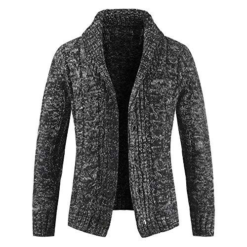 Herfst winter gebreide jas heren met capuchon lange mouwen dunne zakken passende wollen mantel vrije tijd reizen dansfestival M-3XL 100% katoen