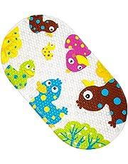 Yolife Babybadje Mat Cartoon Eend Ontwerp Antislip Badmat Massage met Sterke Zuignappen voor Peuters Kinderen 39x69 cm