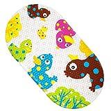 Yolife Wanneneinlage Anti-Rutsch Badematte PVC Karikatur Entwurf Massage Badematte mit Saugnäpfen für Baby Kinder 39 x 69 cm