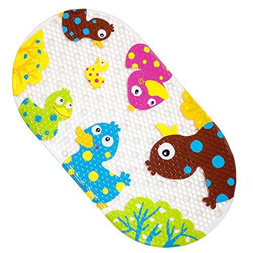 Yolife Alfombrilla de baño Duck Suckers Antideslizante plástico Antideslizante Apariencia baño PVC Dibujos Animados boceto Masaje Ducha baño con ventosas para bebés niños 39 x 69 cm (Pato Colorido)
