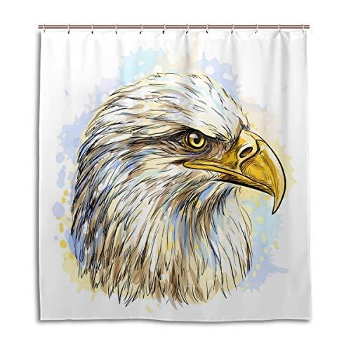 Lafle wasserdichte Duschvorhänge, Adler, Hochformat, Heimdekoration, Badezimmer, Vorhang mit 12 Haken, 167 x 182 cm