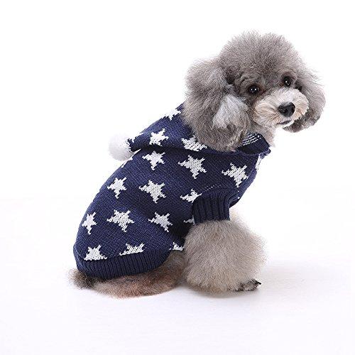 Spring Fever Winter-Haustier-Pullover, weihnachtlich, Strick, warm, für Hunde und Katzen