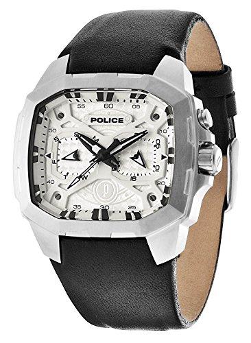 Police PL.13891JSU/61 - Reloj de Pulsera Hombre, Piel, Color Negro