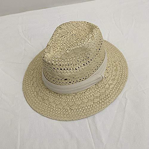 TOORY mural Sombreros De Hombre Sombreros De Panamá De Moda para Mujer Sombreros De Playa Franceses Sombreros De Sol Sombreros De Copa De Estilo Británico-Beige