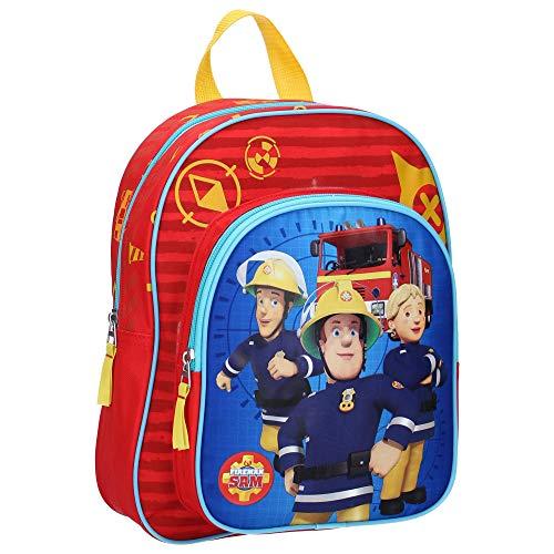Feuerwehrmann Sam Kinderrucksack - Sam und Penny - Rot
