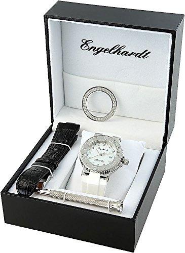 Engelhardt Damen Analog Mechanik Uhr mit Gummi Armband 386722019030