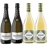 Vino blanco Xarel Lo y Cava Semiseco Vilarnau - D.O. Penedes y Cava - Mezclanza Gonzalez Byass (Pack de 4 botellas)