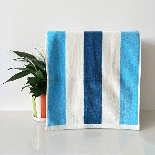 ZHFC reiner baumwolle handtücher handtücher reiner baumwolle wasseraufnahmefähigkeit handtücher farbige streifen geschenk kosmetiktücher werbeartikel blau lila 34 * 76 2,Blau,34 × 76
