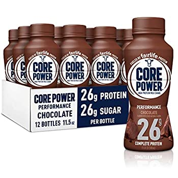 Core Power Protein Shakes  26g  Chocolate No Artificial Sweeteners Ready to Drink for Workout Recovery 11.5 Fl Oz  Pack of 12   Packaging may vary