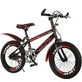 MIAOYO Bike per Bambini, Bici per Bambini, V-Freno, Alluminio 18 20 22 Pollici 6-9 Anni Bambini Bicicletta Giovanile per Ragazzi e Ragazze,Rosso,20inch