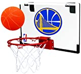 Rawlings NBA Game On Polycarbonate (PC) Mini Basketball Hoop Set, Golden State Warriors