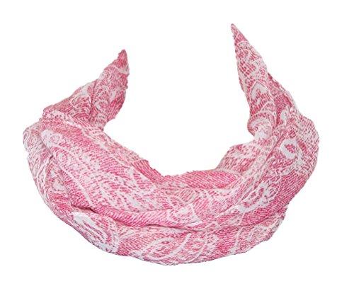 Bonita 1207234/5 Damen Halstuch Schal Paisley Muster blau rosa (Rosa)