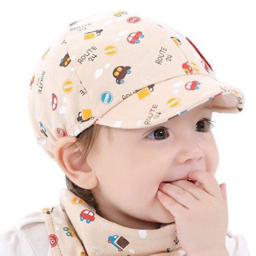 Unisex Baby Cap,Junge Mädchen Kleinkind Mütze Little Car Baseball Kappe Beret Süß Sonnenhut Schwimmkappe mit UV-Schutz Elastisch Hüte