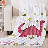 Weiße Decke Dinosaurier Cartoon Dicke Decke für Bett BeachTowel fürErwachsene Decke wirftBettlaken Travel Velvet Plush