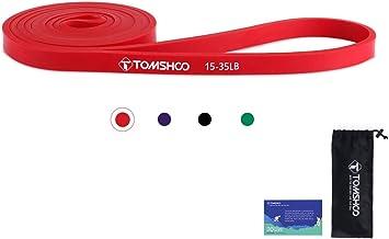 TOMSHOO Weerstandsbanden, 15-125lbs Fitnessbanden Met Tas, voor Yoga, Pilates, Stretching, Krachttraining