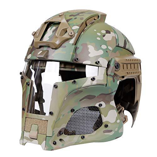 haoYK Casco de Deporte Multiusos con protección táctica Casco Airsoft Paintball Casco...