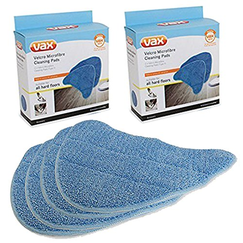 Vax Genuine S86-SF-B S86-SF-C S86-SF-P S86-SF-T Steam Cleaner Mop Microfibre Cleaning Pad Covers (Pack of 4)