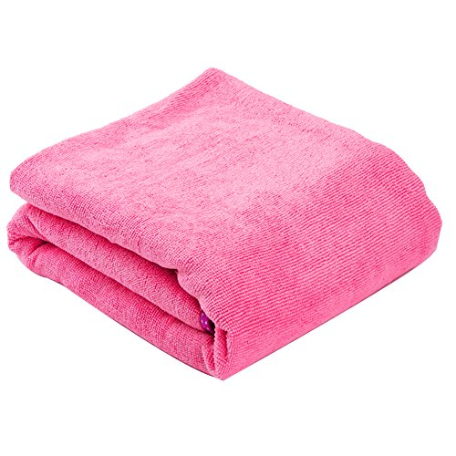 Ndier Falda toalla de baño, toalla de baño de secado rápido de microfibra para mujer (rosa)