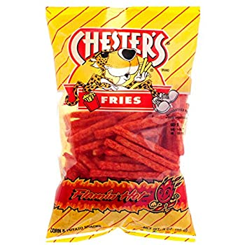 Chester s Fries Flamin  Hot Spicy Flavor - 3 oz Bag - Family Pack - 3 PACK