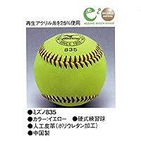 ミズノ 硬式練習球 イエロー ポリウレタン加工 2OH-83500 1球