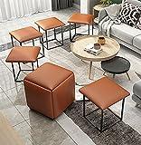 Djlazb Stapelbarer Sofa Stuhl Hocker, Wohnzimmerhocker, Kombination Niedriger Hocker Kreativer Hocker 5 In 1 Sitzwürfel Fußhocker Einfach zu verstauen