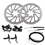 Cmstop Juego de Frenos de Disco de Bicicleta Juego de Cables de Freno de manivela de Rotor de Freno de Disco de Bicicleta para Accesorios de Ciclismo de Bicicleta de Carretera de Monta?a