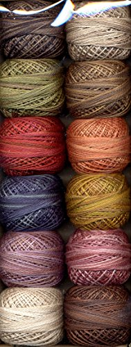 Valdani Perle Cotton Embroidery Thread Size 8 Vintage Hues Collection