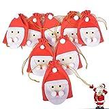 Cuenta atrás para Navidad, calendario de adviento, 24 bolsas de cuerda, bolsas, joyas, boda, Navidad, bolsa de regalo con cordón para DIY decoración navideña