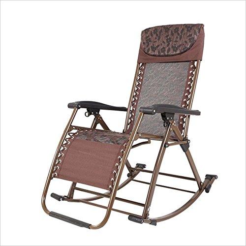 Xiaolin Chaise berçante inclinable Balcon Chaise Adulte Pliant déjeuner Pause Chaise Chaise âgée (Couleur : 01)