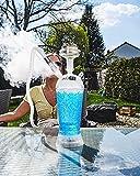 ADAL ICE-Shisha - Narghilè refrigerante per narghilè, fumo, narghilè Ice Travel, set completo con sottovaso a LED rimovibile + pinza e tubo   per casa e in viaggio   plexiglas – acrilico (blu)