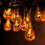 2 Tiras de luces LED con Calabazas para Halloween