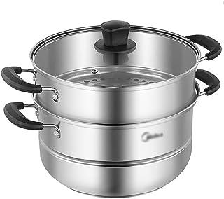 WSJ - Olla de sopa multifunción, cocina para casa y cafetería, acero inoxidable, gran capacidad de espesamiento (tamaño: 26 x 26 x 20 cm)