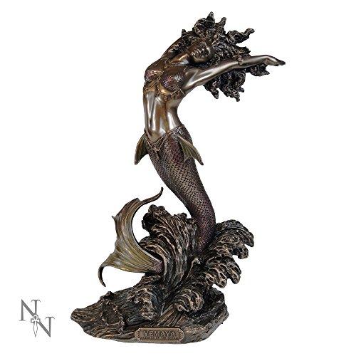 Nemesis Now - Figura Decorativa de Diosa yemaya de Agua, 27 cm, Resina, Bronce, Talla única