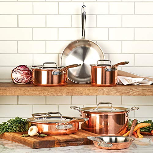 All-Clad C40010 C4 10 Piece Cookware Set, Copper
