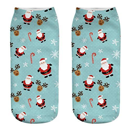 URSING Damen Socken Thermo Vollfrottee Wintersocke Weihnachten Geschenk Crew Socken Xmas Weihnachten Strümpfe Socken Kinder Strümpfe Atmungsaktiv Sportsocken Stoppersocken