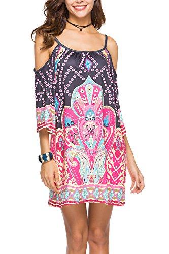 Miracle Sexy Womens Fashion Beach Wear Bikini Summer Swimsuit Cover up Dress(FBA) (XX-Large, Braces Skirt 6)