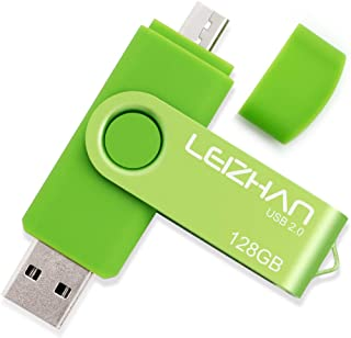 LEIZHAN 32GB OTG USB Flash Drive Green USB 2.0 Pen Drive Gift Suitable for Samsung Galaxy S7,S7Edge,S6,S6 Edge