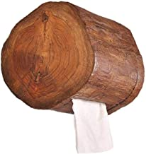 Wood Paper Holder Wall Mounted, Kitchen Tissue Paper Holder Bathroom Toilet Roll Holder Stand Wooden Shower Dispenser,Wood-15×15cm(6×6inch)