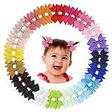 Tondwin Haarschleifen für Babys, Mädchen, Haarspangen für Baby, Mädchen, Teenager, Kleinkinder, Kinder, 40 Stück, Set mit 20 Paar