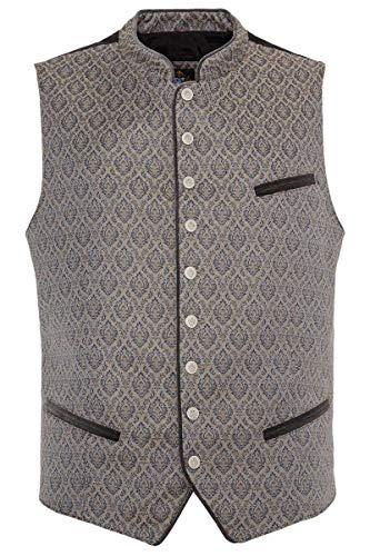 Hammerschmid Herren Herren Trachten-Weste mit Stretch-Rücken grau Gemustert, 79-GRAU Gemustert, 50