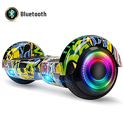FLYING-ANT Hoverboard for Kids, 6.5 Inch Two Wheels Self Blancing Hoverboard with Bluetooth Speaker and LED Lights-Garffiti