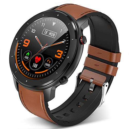 GerbGorb Smart Watch Fitness Armbanduhr 1.3 Zoll Touchscreen Fitness Tracker mit Pulsmesser/Blutdruck/SpO2 Monitor, IP67 Waterproof Sportuhr Tracker für Android iSO für Männer Frauen