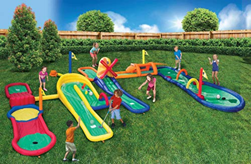 BANZAI Mini Golf Adventure Park Inflatable Playset