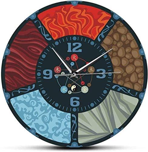 Reloj de pared 12 pulgadas Impresión en color Los cinco ele