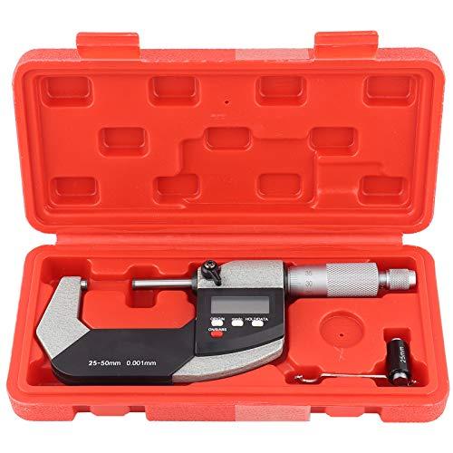 Micrómetro digital de 0.001 mm, Micrómetro exterior Calibrador Calibrador Micrómetro electrónico, Micrómetro Digimatic(25-50mm)